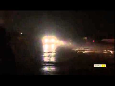 Ночной дрифт в Одессе на кольце