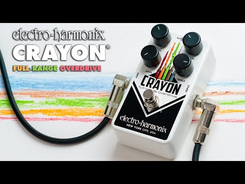Electro Harmonix Crayon Full Range Overdrive Effects Pedal for Guitar (76 & 69)