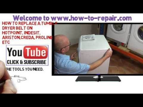How to replace tumble dryer belt Hotpoint, Indesit, Ariston, Creda, Proline etc