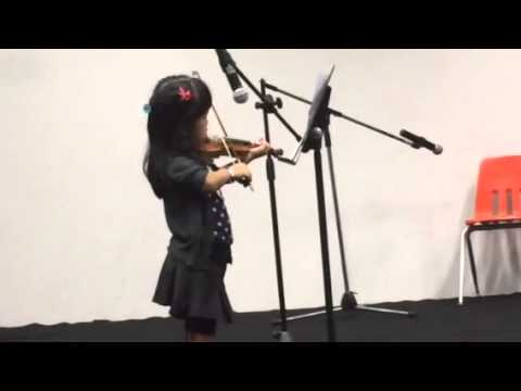 Star Spangled Banner Violin by Adiva at NJIS Talent Show