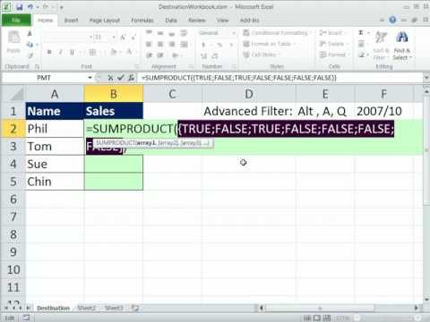 Excel Magic Trick 809: Diff Workbook: Advanced Filter Extract  Unique Records & Adding W Criteria