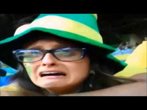 Brazilian Fans Crying: Brazil Vs. Germany 1-7 World Cup 2014