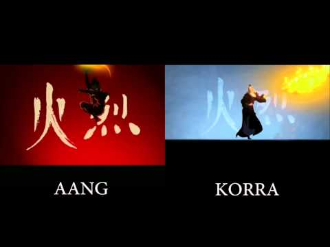 """The Legend of Korra"" - Aang intro vs Korra intro"