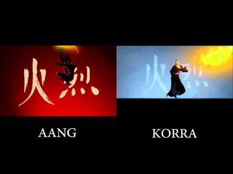 """""""The Legend of Korra"""" - Aang intro vs Korra intro"""