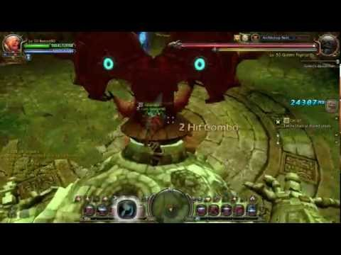Dragon Nest SEA Level 50 Barbarian Solo Archbishop Nest - YouTube