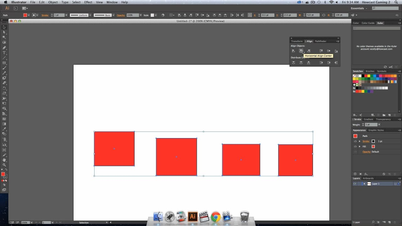 how to move objects in illustrator
