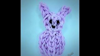Rainbow Loom Easter Peep Bunny Rabbit Charm Tutorial