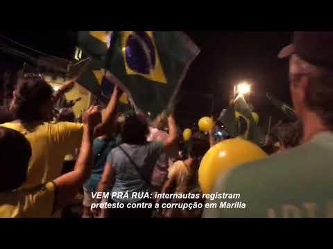 Protesto contra corrupção mobiliza marilienses