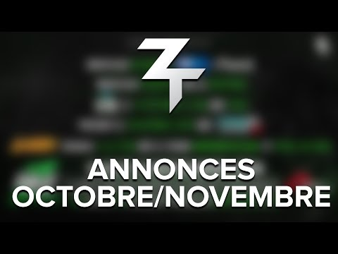 Les annonces d'octobre/novembre !