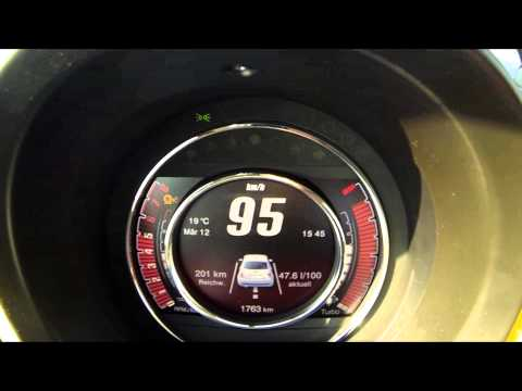 2014 Fiat 500 Facelift 105 PS Twin-Air 0-100 km/h Beschleunigung/acceleration #ilovecars