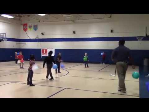 Taekwondo Punching in Kindergarten Physical Education
