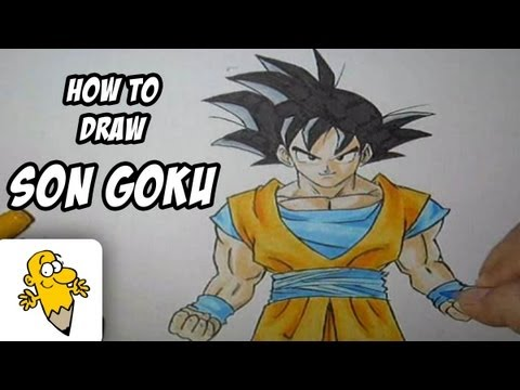 How to draw Son Goku [Dragonball Z] drawing tutorial