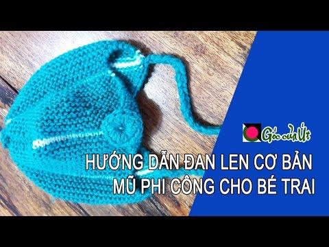 Góc của Út - Hướng dẫn đan len cơ bản (Knit) : Mũ phi công cho bé !