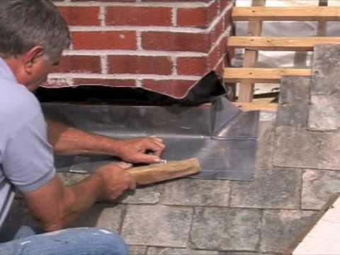 Fitting Chimney Flashing Front Apron Youtube