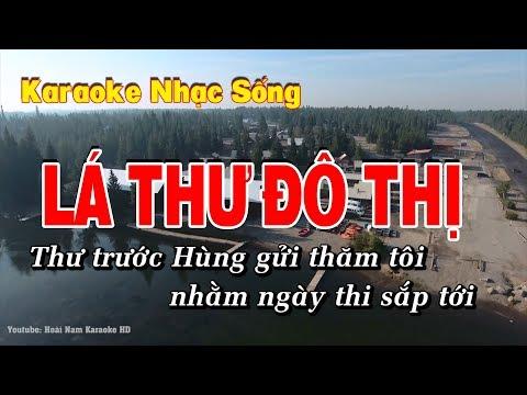 Karaoke Lá Thư Đô Thị - Beat Mai Văn Cường