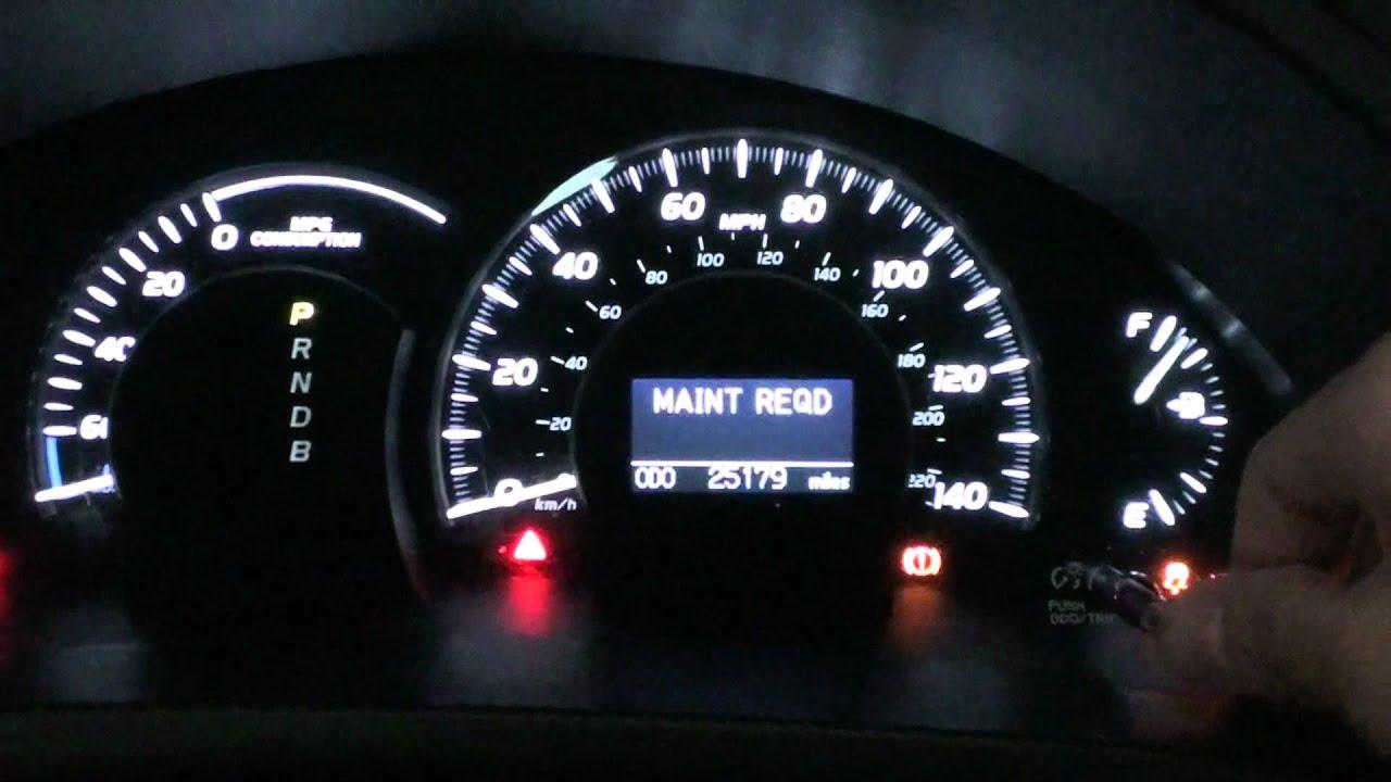 reset maintenance light on hybrid camry autos post. Black Bedroom Furniture Sets. Home Design Ideas
