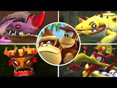 Donkey Kong Country Returns 3D - All Boss Battles (No Damage) / Final Boss & Ending