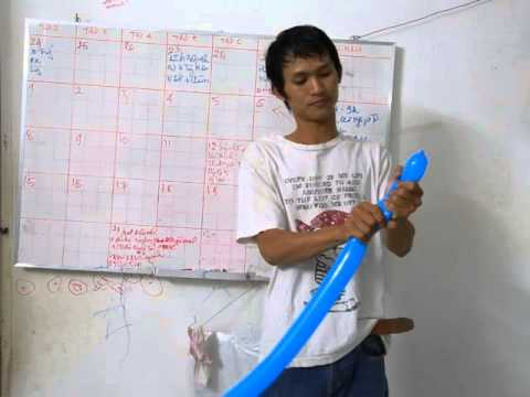 dạy tạo hình bong bóng : Cây kiếm - aothuatvietnam.net