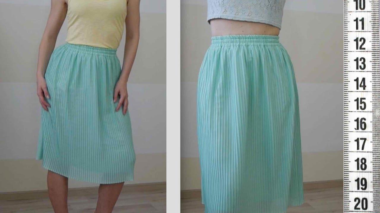 Как сшить себе юбку в складку фото
