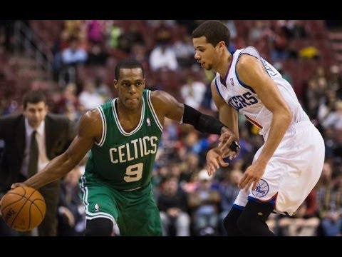 Rajon Rondo 8 points,11 assists,9 rebounds vs Philadelphia 76ers 2/5/2014 - Full Highlights - [HD]