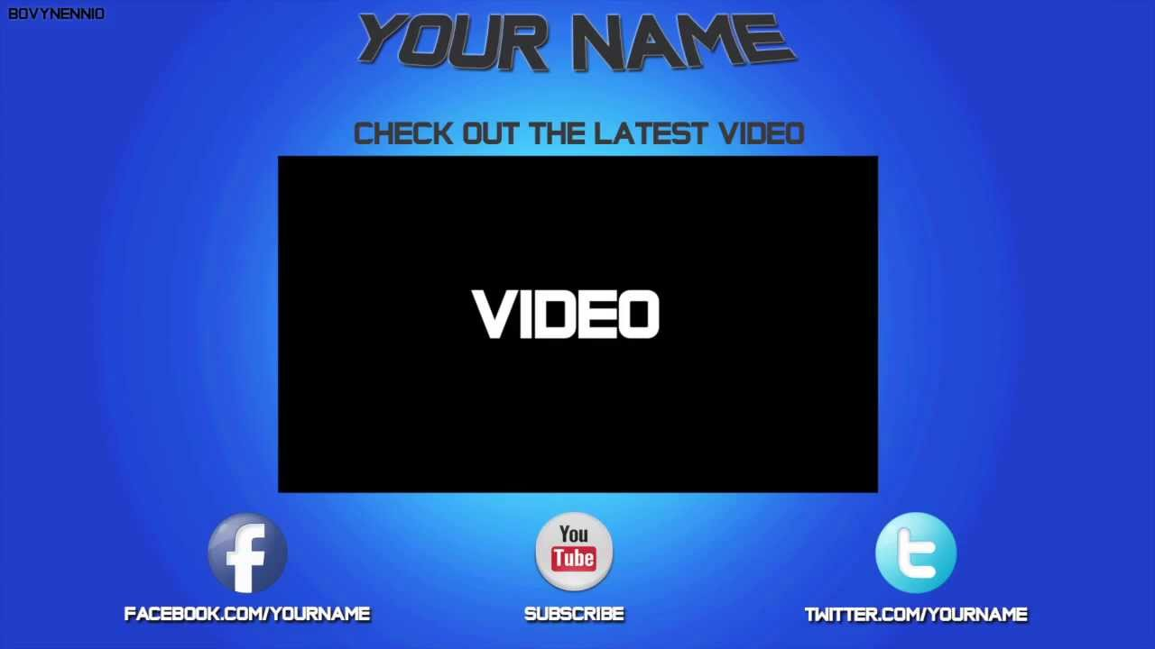 Socialoutro free outro templates pack psd files youtube for Free outro template