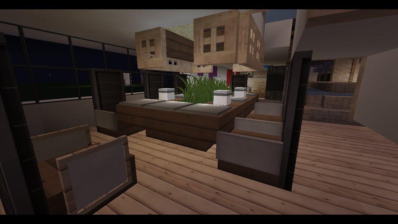 Minecraft chair designs youtube for Kitchen ideas on minecraft