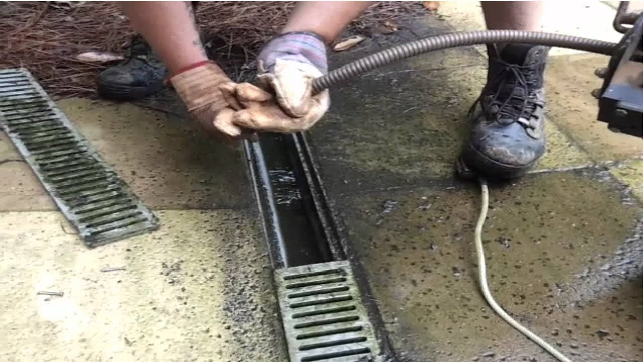 Save 1000 39 s french drain cleaning repair youtube for Basement curtain drain