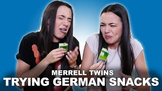TRYING GERMAN SNACKS - Merrell Twins
