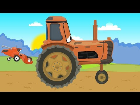Tractor and Combine Harvester with McQueen  Prace na Farmie Traktor i Kombajn zbożowy Bajka