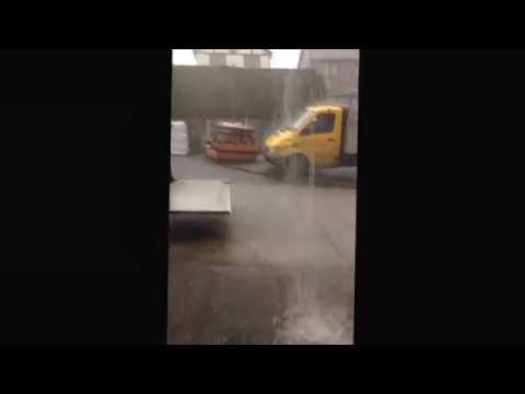 Extreme weather rain wind storm preston lancashire 10/06/2014 nuts !