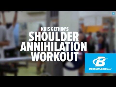 Kris Gethin's Shoulder Annihilation Workout - Bodybuilding.com