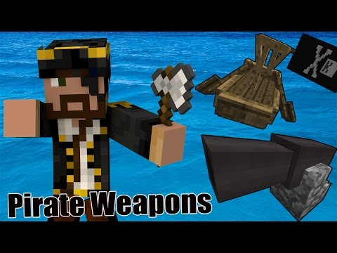 [Review] Minecraft Command Block Pirate Weapons อาวุธโจรสลัด