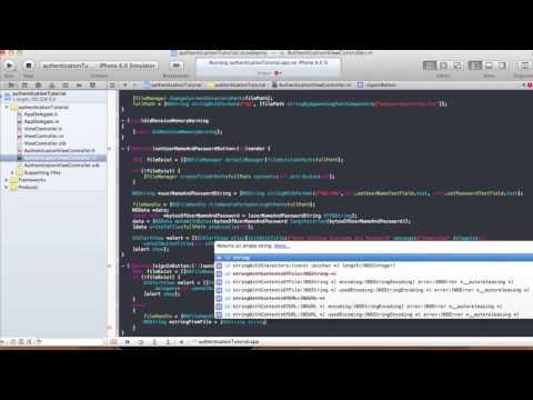 Username and Password in your App - Xcode 4.5.1