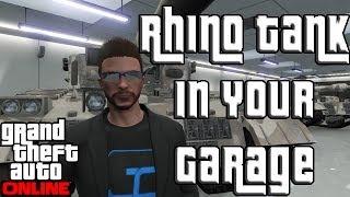 """GTA 5 Online FREE RHINO TANK In Your GARAGE! """"GTA Online"""