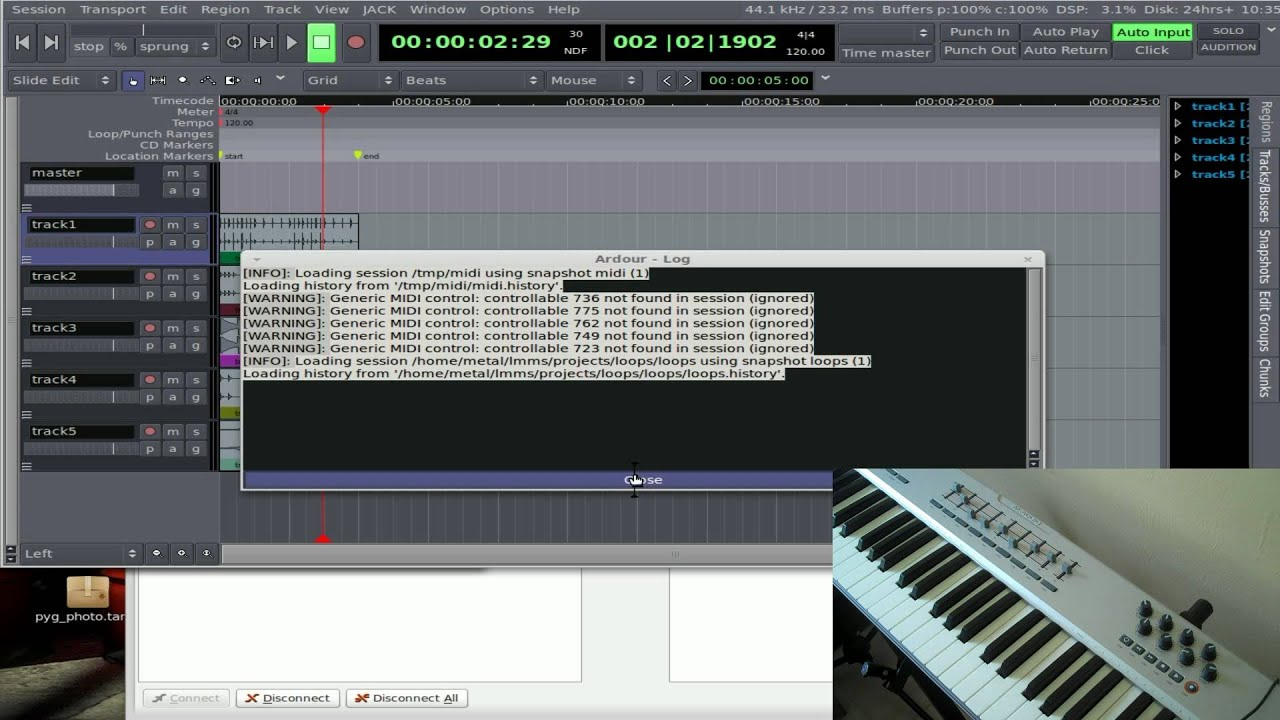 Ardour - Music Editing in Linux - Part #1 - YouTube