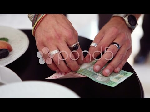 Magic tricks with money. Stock Footage