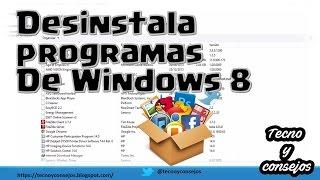Desinstalar Programas En Windows 8 1