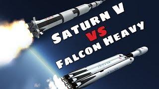 Apollo Saturn V vs the SpaceX Falcon Heavy