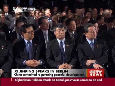 Xi Jinping delivered speech in Berlin and committed to pursuing peaceful development