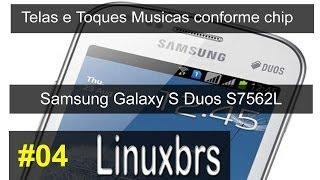 Samsung Galaxy S Duos GT S7562 Telas E Toques Musicas