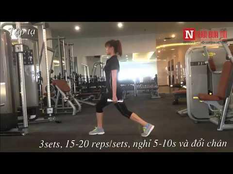 Giảm cân hiệu quả nhờ tập gym cho nữ: Bài tập cho mông đùi