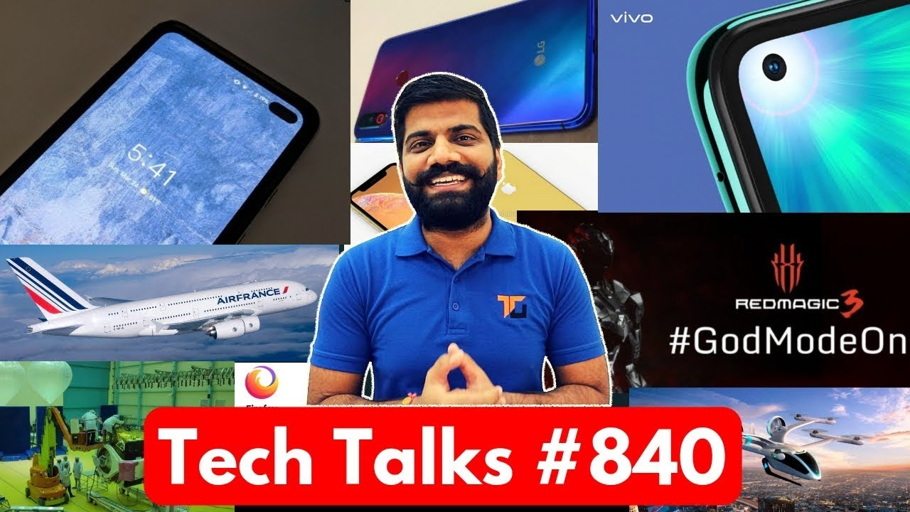 Tech Talks #840 - Vivo Z1 Pro, Pixel 4, Chandrayaan 2, Whatsapp Warning, Air France LiFi, Uber Air