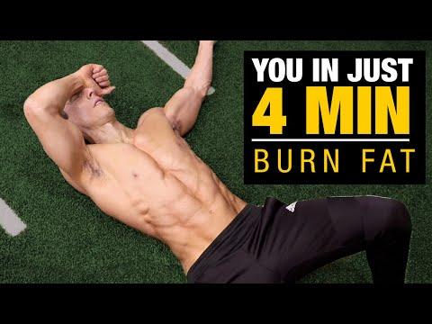 4 MIN Morning Fat Burning Workout (BURN FAT FAST!)