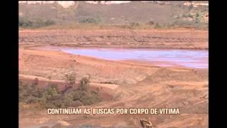 Continuam buscas por corpos de v�timas de rompimento de barragem em Itabirito