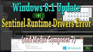 Windows 8.1 Update And Sentinel Runtime Drivers Error (and