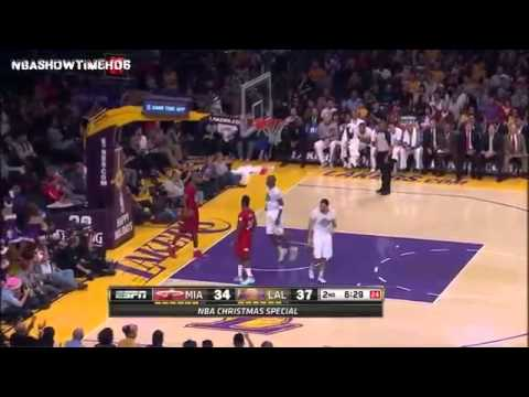 Miami Heat vs Lakers Christmas 2013