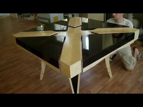 expanding square table with glass top real size part 8