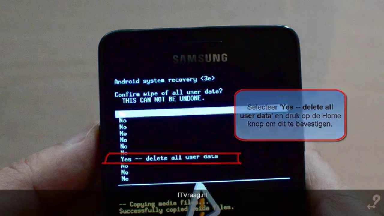 Samsung Galaxy S2 - Volledige reset (ITVraag.nl) - YouTube