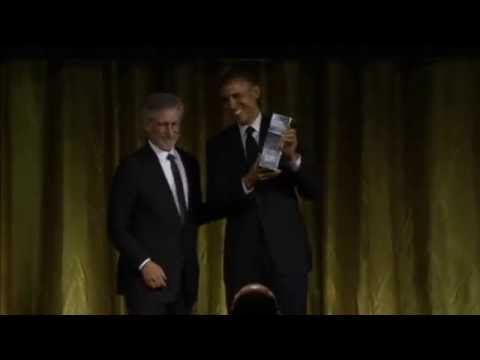 Steven Spielberg Presents Obama With Award