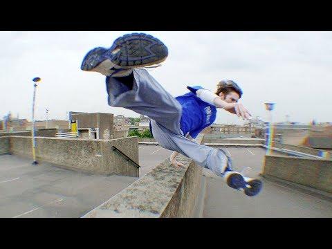 Rooftop Parkour ★ Epic Real Parkour POV Escape From Men   Funny People Videos